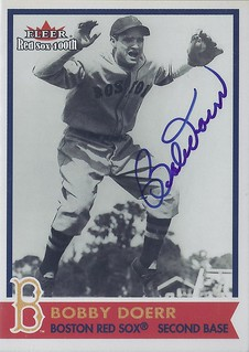 2001 Fleer Red Sox 100th - Bobby Doerr #43 (Second Base) (Hall of Fame 1986) - Autographed Baseball Card (Boston Red Sox)