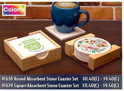 Illini Absorbent Stone Coaster Sets