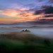 The fog in Val D'Orcia by Fabrizio Massetti