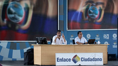 02/13/2016 - 10:38 - Guayaquil, sábado 13 de febrero del 2016 (Andes).-La explanada del Centro Civico, en Guayaquil fue el escenario del Enlace Ciudadano #462 Foto:Andes/César Muñoz