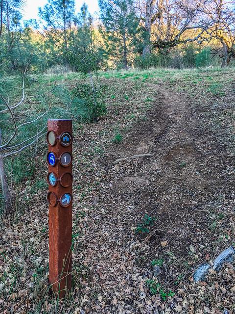 Maggie's Half Acre Campsite marker