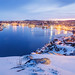 winter scene of St. John's harbour at blue hour by tuanland