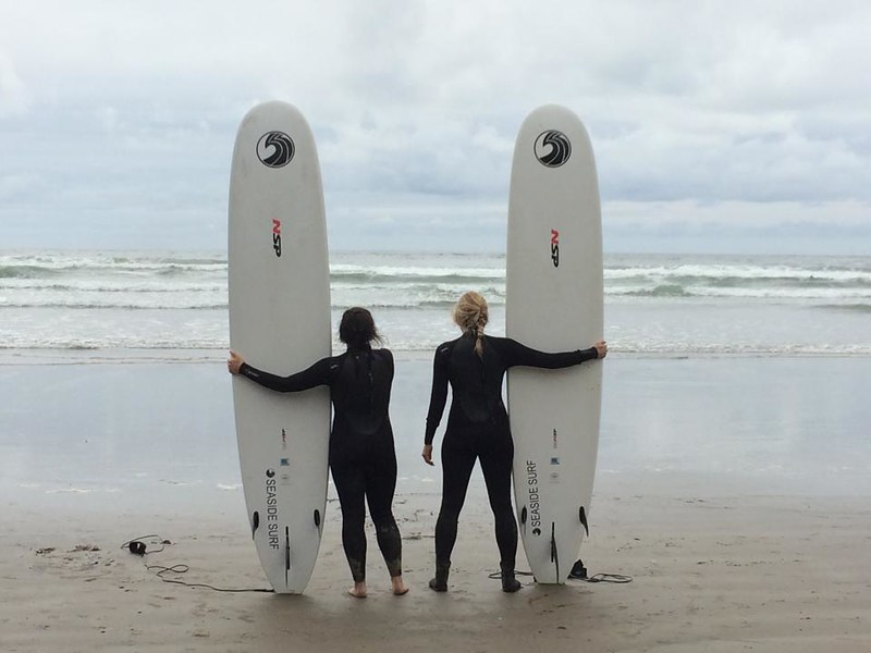 Surfing at Indian Beach