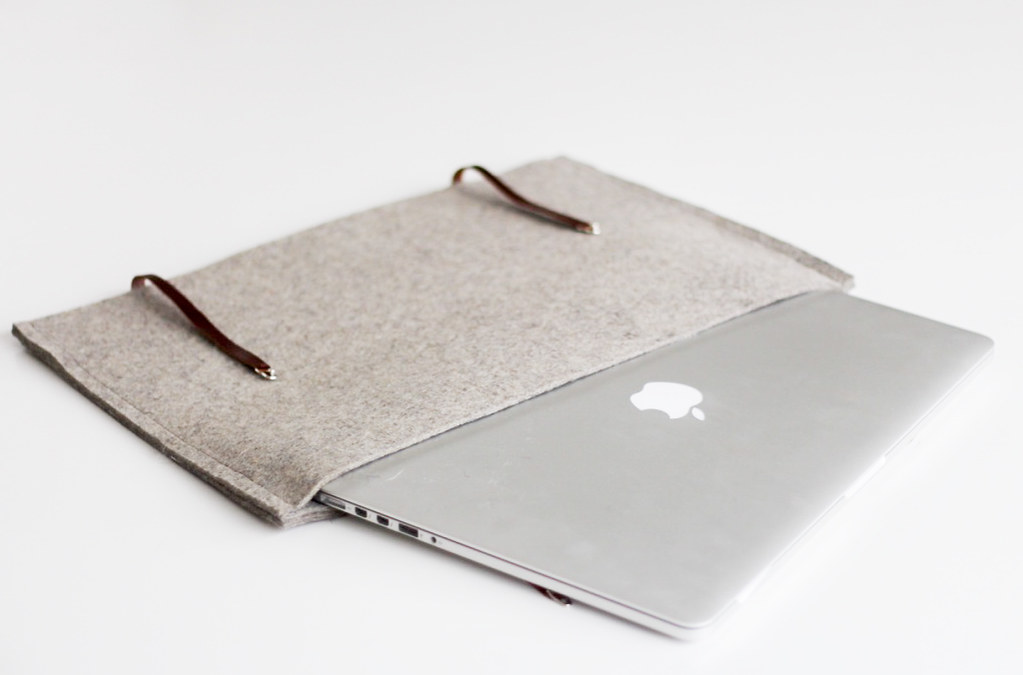 Felt and leather cover