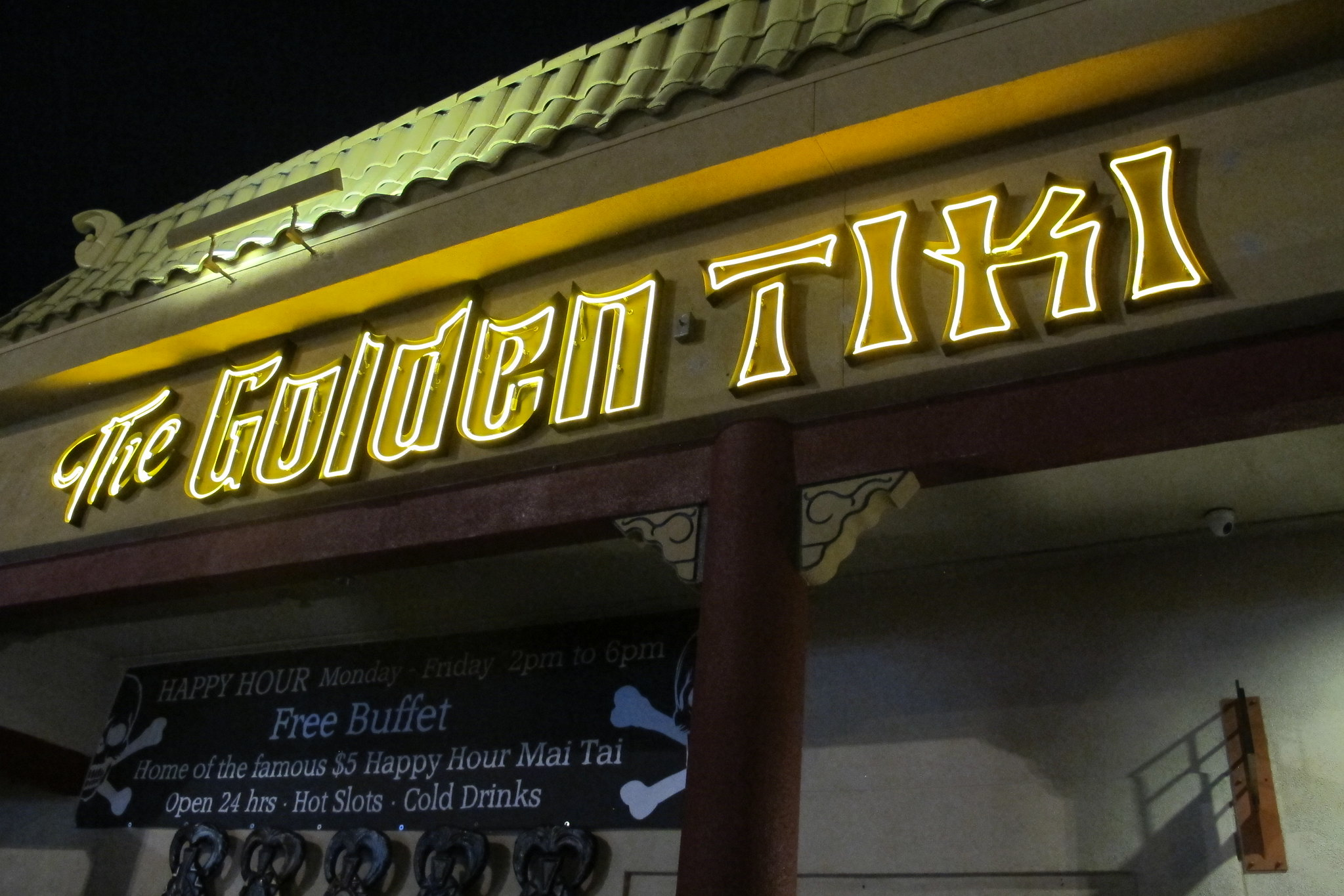 The Golden Tiki sign