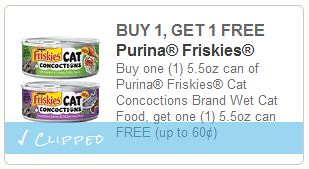 BOGO Free Friskies