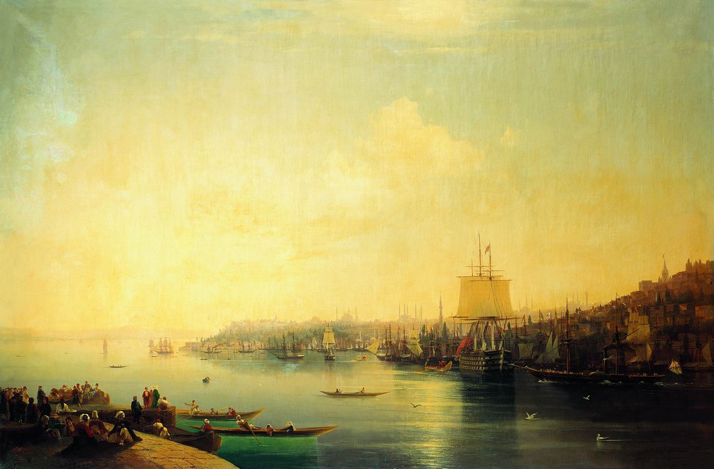 View of Constantinople by Ivan Aivazovsky, 1849