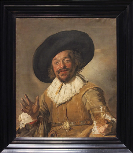 "A Militiaman Holding a Berkermeyer, Known as the ""Merry Drinker"", Frans Hals, c.1628-30"