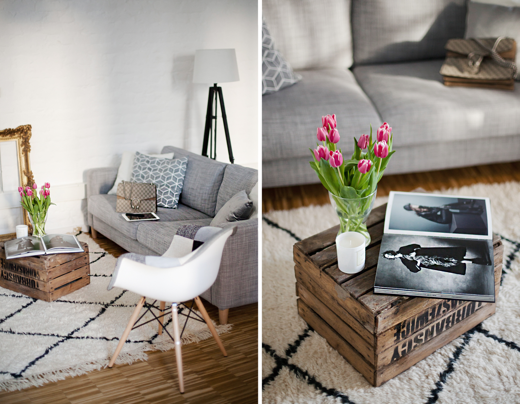 interior home living decor inspiration interiordesign eames voga vitra ikea wine box tulips modern life luxury homedecor beni ourain rug moroccan homefashion personal life blogger interiorblogger cats & dogs blog ricarda schernus 1