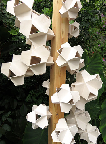 A 'pollen' sculpture in Dublin Botanical Garden