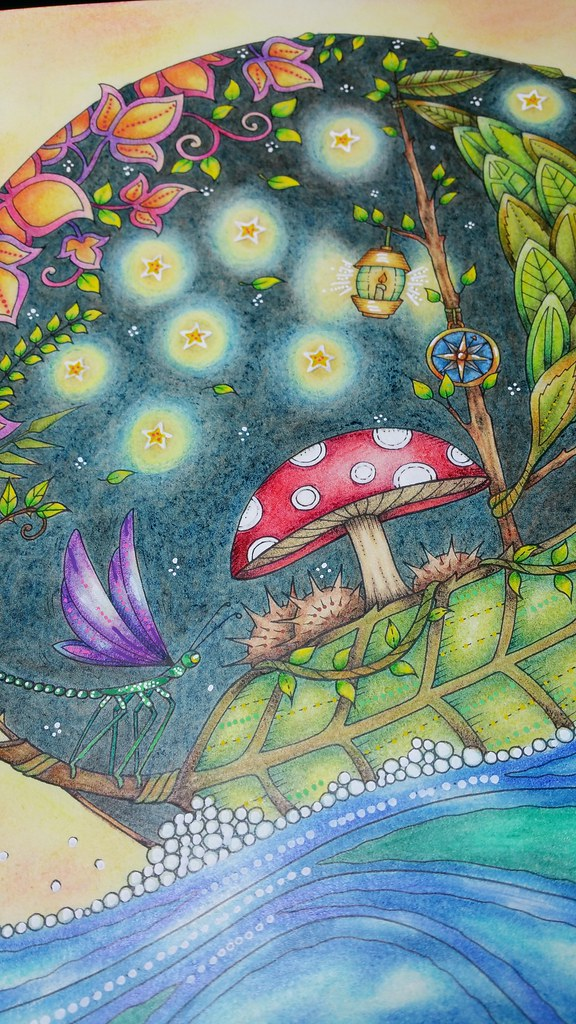 Sail Boat From Johanna Basfords Enchanted Forest Colouring Book