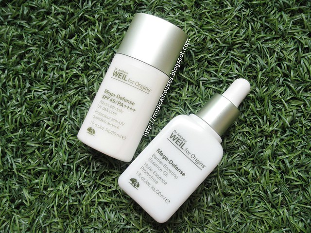 Origins Mega Defense Oil Barrier Boosting Essence SPF45 Review