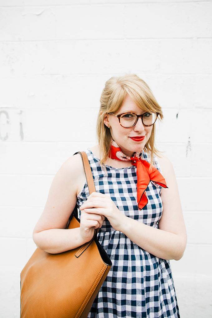 gingham-dress-silk-scarf5