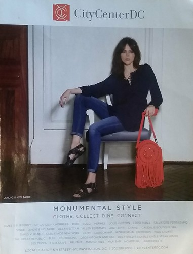 CityCenterDC shopping ad, Washingtonian Magazine, 2/2016