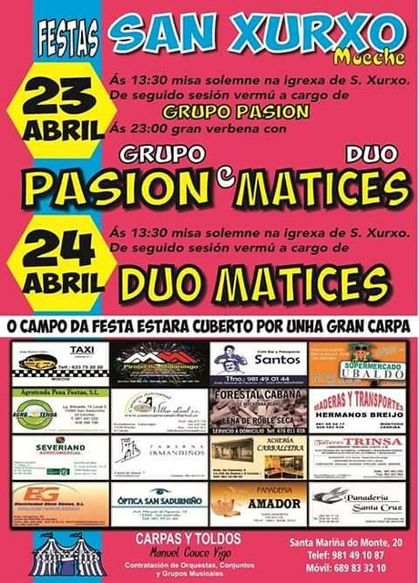 Moeche 2016 - Festas de San Xurxo - cartel