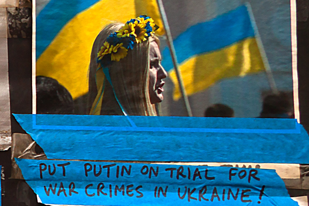 WEAPONS FOR UKRAINE NOW--St. Mark's Place, New York (detail 3)