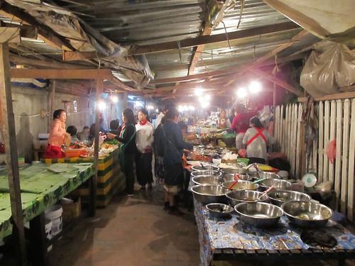 Luang Prabang:  food market