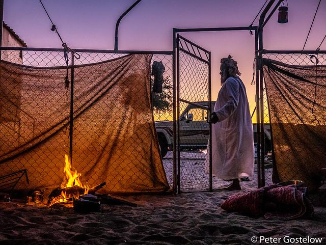 Bedu camp at sunset