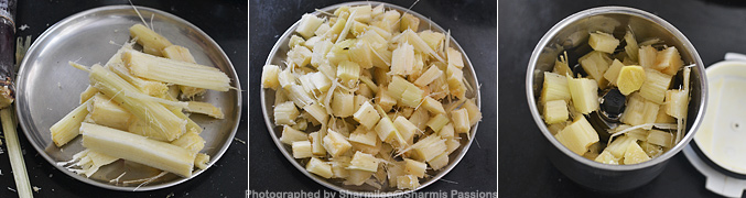 How to make Sugarcane Juice Recipe - Step1