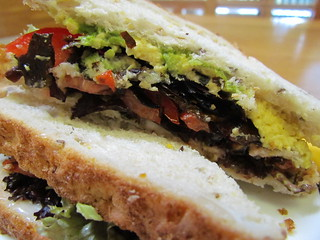 Avocado, Dulse, Lettuce, and Tomato Sandwiches