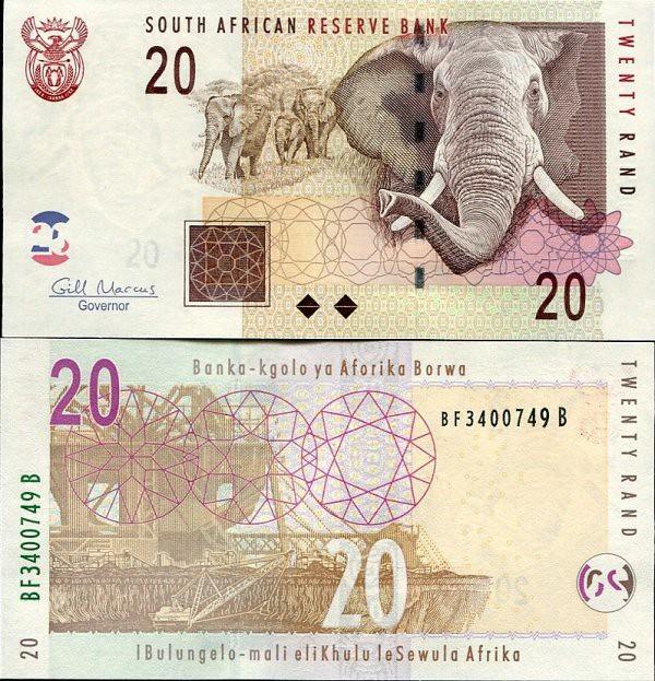 20 Randov Južná Afrika 2009, P129b UNC