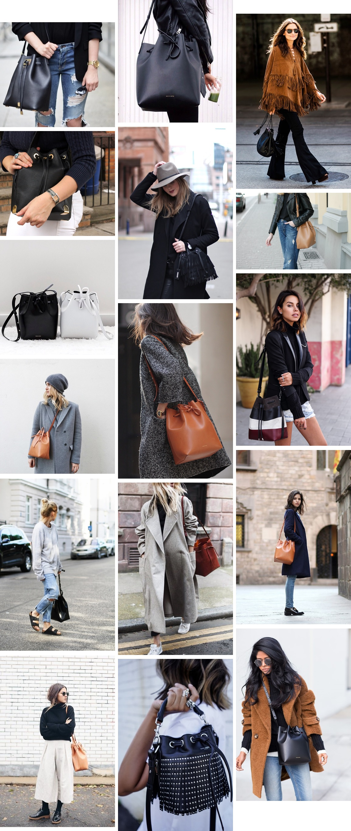 inspiration | Bucket bags