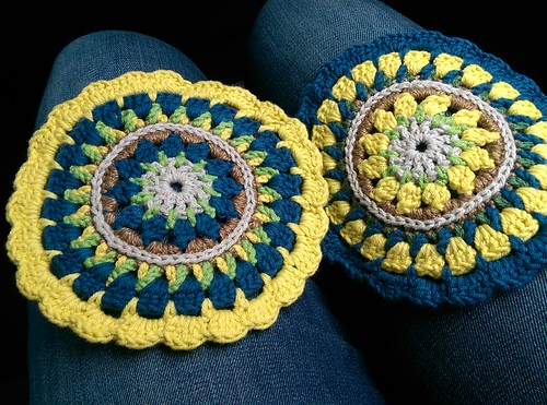 coordinated pair of mandalas