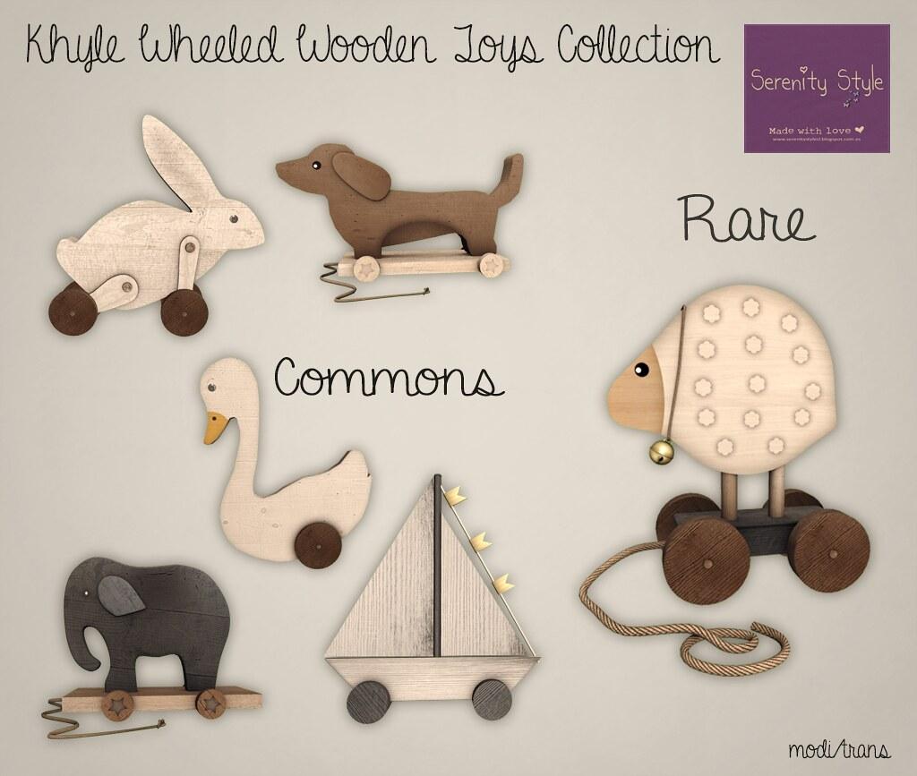 Serenity Style- Khyle Wheeled Wooden Toys GACHA
