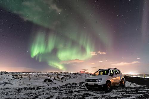 Aurore boréale à Reykjanes - Islande