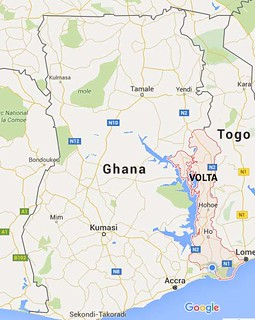 map of ghana_VOLTA