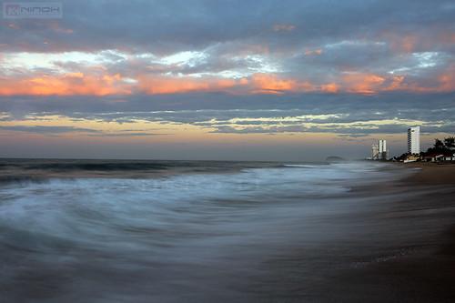 ocean beach nature colors clouds mexico mazatlan sinaloa