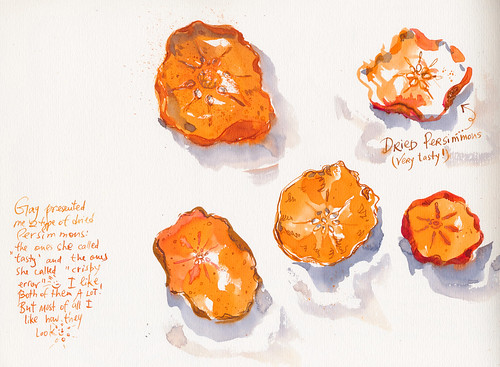 Sketchbook #94: Dried Persimmons