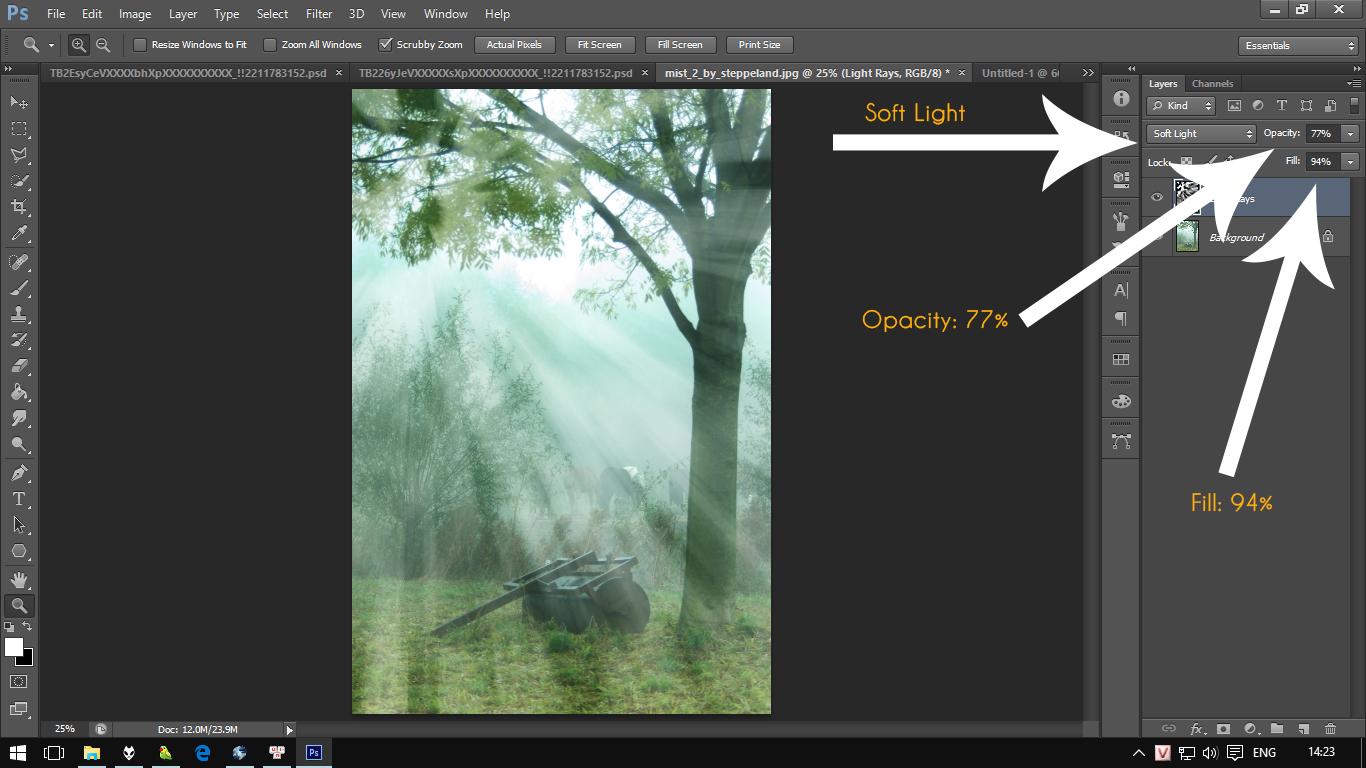Tạo hiệu ứng tia sáng cho bức ảnh trong Photoshop
