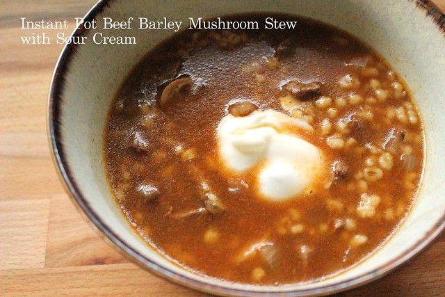 Beef Barley Mushroom Stew With Sour Cream