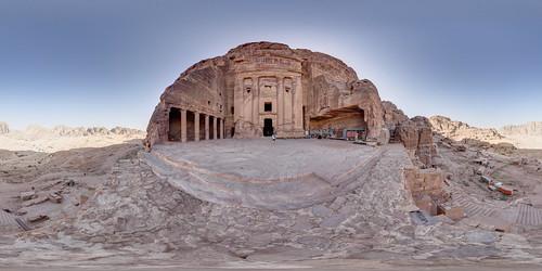 sunrise ruins terrace tomb petra worldheritagesite jordan historicalsite historicbuilding ancientcity ancientsite rocktemple nodalninja petraarchaeologicalpark