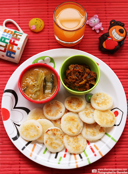 Coin Oothappam,Chutney,Sambar,Orange Juice
