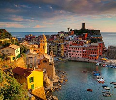 The Cinque Terre is chock full of picturesque coastal village towns such as this one, Vernazza.  I'm plotting of becoming a pirate so I could plunder and raid it for its pasta and olive oil...did I tell you they have really good pasta and olive oil?