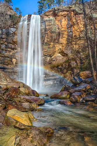 waterfall rainbow toccoafalls