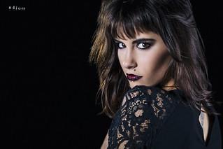 Carlota - Black dress portrait