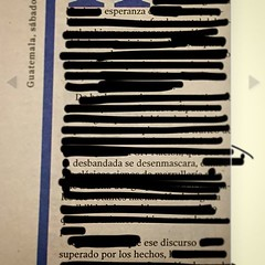 Esperanza desbandada se desenmascara ese discurso  superado por los hechos #poemadelperiódico #newspaperblackoutpoetry #blackoutpoetry #esperanza