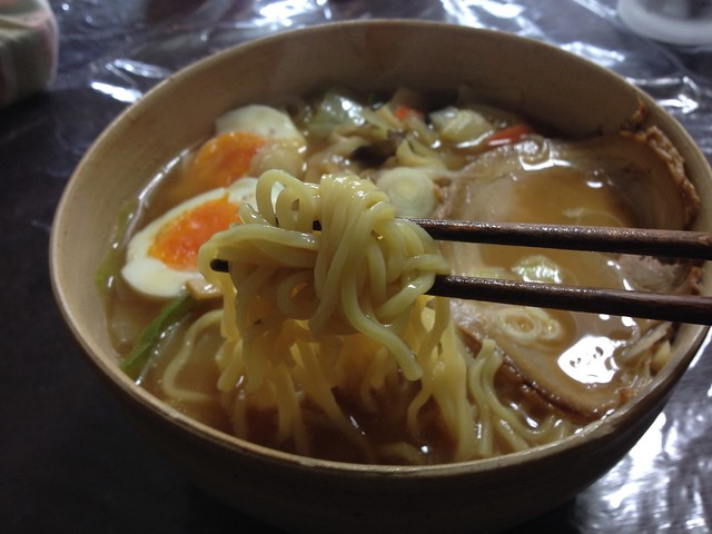 Homemade Chinese noodles