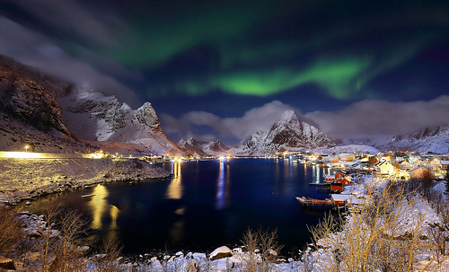 The beautiful colors of Lofoten islands.