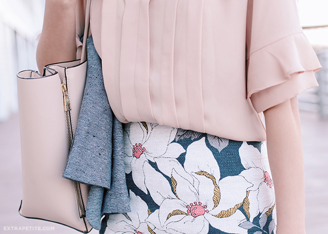 spring fashion 2016 blush pink navy floral print