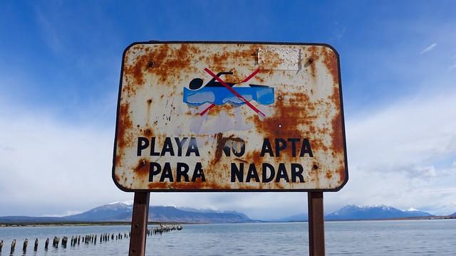 Playa no apta para nadar