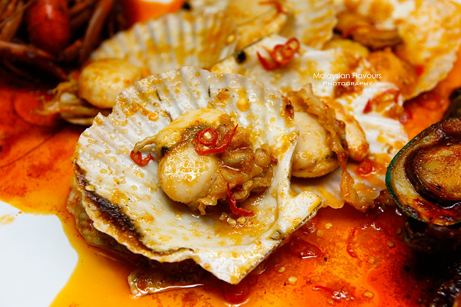 Shell Out Seafood Restaurant giant scallop