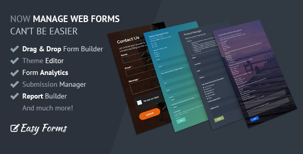 Easy Forms v1.4.1 – Advanced Form Builder and Manager