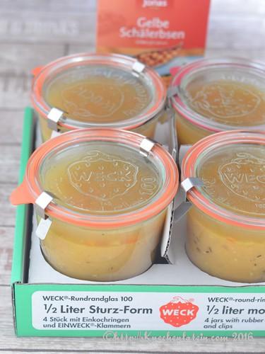 Gelbe Schälerbsensuppe mit gekochtem Schinken (2)
