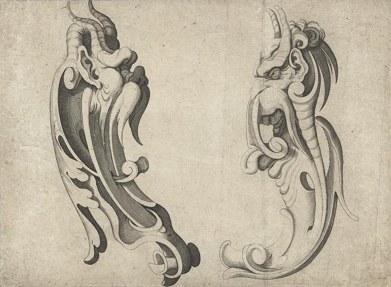 Arent van Bolten - Grotesque Creatures 6, 1604-1616