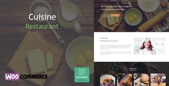 Cuisine v1.0 - Restaurant WordPress Theme