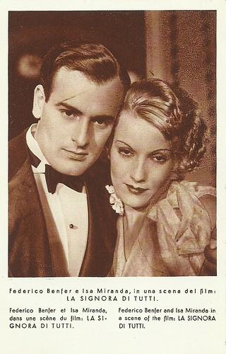 Isa Miranda and Enrico Benfer in La signora di tutti (1934)